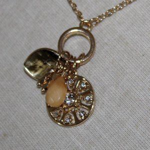 Charm Necklace Gold, Yellow NWT